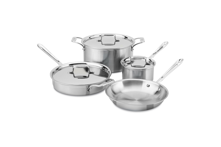 All-Clad d5 Brushed Stainless 7-Piece Cookware Set