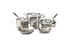 All-Clad d5 Brushed Stainless 10-Piece Cookware Set