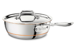 All-Clad Copper Core 2 Quart Saucier Pan