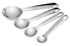 All-Clad Stainless Accessories 4-Piece Measuring Spoon Set