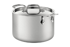 All-Clad d5 Brushed Stainless 5-Ply Bonded 4 Quart Soup Pot with Lid