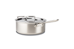All-Clad d5 Brushed Stainless 6 Quart Deep Saute Pan