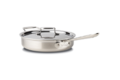 All-Clad d5 Brushed Stainless 3 Quart Saute Pan with Lid