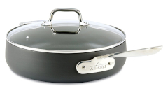 All-Clad HA1 Nonstick 4 Quart Saute Pan with Lid