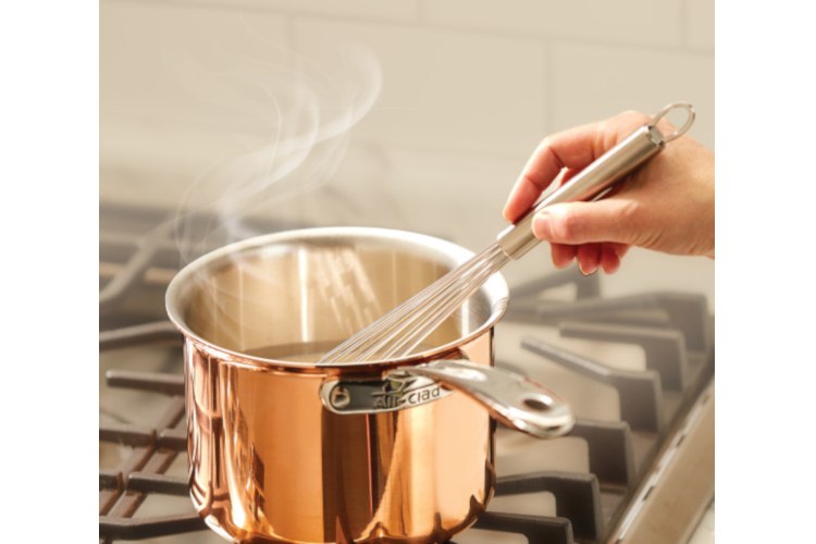 All-Clad c4 Copper Saucepans with Lid