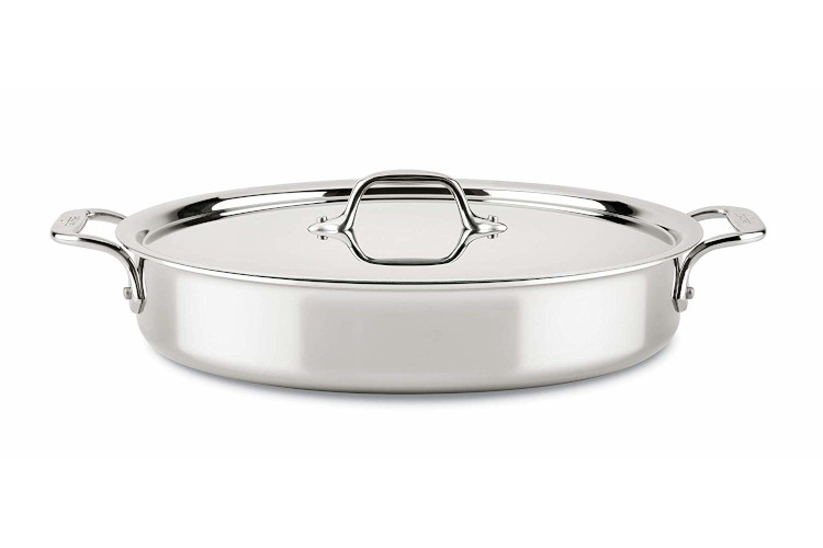 All-Clad d3 Compact 4.5 Quart Sear & Roast with Lid