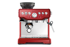 Breville the Barista Express® Espresso Machine Cranberry Red