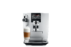 Jura J90 Automatic One-Touch Coffee Machine Brilliant Silver