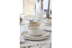 Casafina Pacifica 12 Piece Dinnerware Set with Cereal Bowl - Vanilla