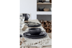 Casafina Pacifica 12 Piece Dinnerware Set with Cereal Bowl - Seed Grey