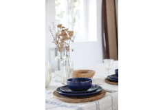 Casafina Pacifica 12 Piece Dinnerware Set with Cereal Bowl - Blueberry