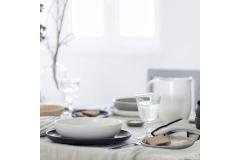Casafina Pacifica 12 Piece Dinnerware Set with Pasta Bowl - Vanilla