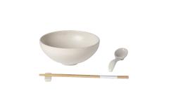 Casafina Pacifica Ramen Bowl Gift Set - Vanilla