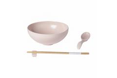Casafina Pacifica Ramen Bowl Gift Set - Marshmallow Rose