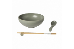 Casafina Pacifica Ramen Bowl Gift Set - Artichoke Green