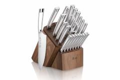 Cangshan N1 Series 23-Piece Knife Block Set with Walnut Block