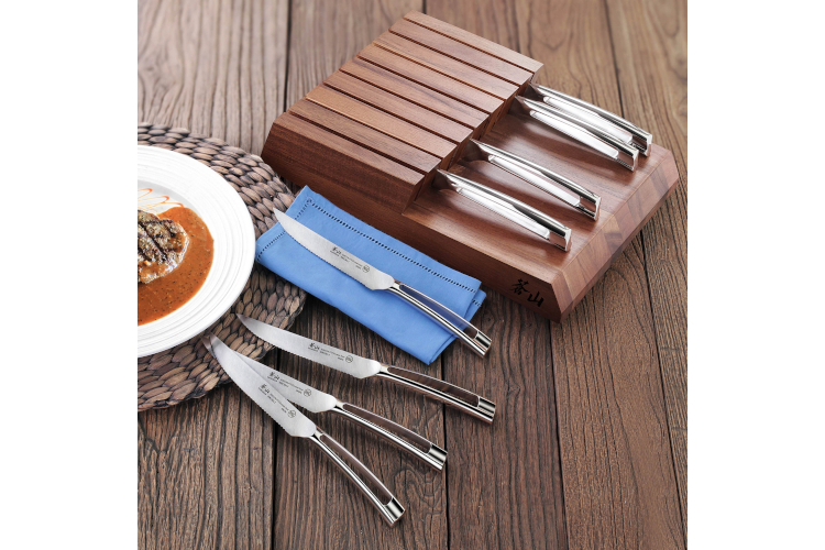Cangshan N1 Series 8-Piece Steak Knife Set with Acacia Block