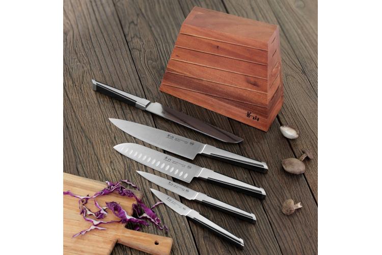 Cangshan X Series 6-Piece Knife Set Acacia Block