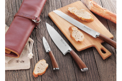 Cangshan H1 Series 4-Piece Leather Roll Knife Set