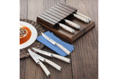 Cangshan S1 Series 8-Piece Steak Knife Set with Walnut Block