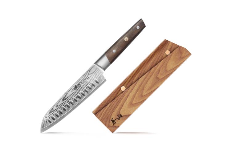 "Cangshan R Series 7"" Santoku Knife (Japan Steel) with Ashwood Sheath"