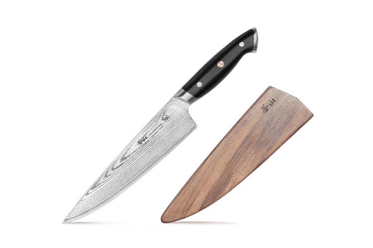 "Cangshan Z Series 8"" Chef's Knife with Walnut Sheath"