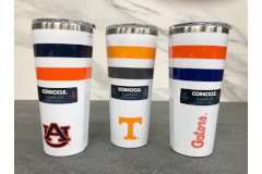 Corkcicle Striped Collegiate Tumblers