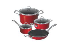 Chantal Copper Fusion 7 Piece Cookware Sets