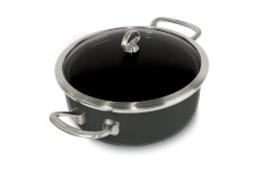 Chantal Copper Fusion 4 Quart Risotto Pan with Lid Onyx