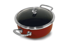 Chantal Copper Fusion 4 Quart Covered Risotto Pans