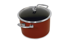 Chantal Copper Fusion 8 Quart Covered Stockpots