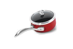 Chantal Copper Fusion 1 Quart Covered Saucepan Chili Red