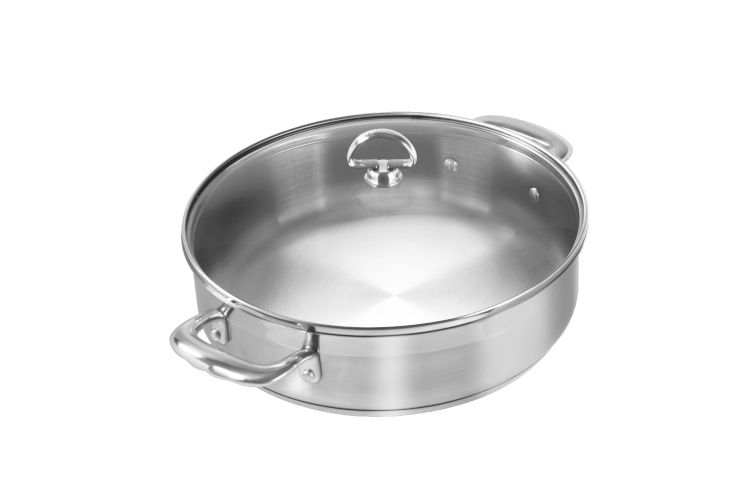 Chantal Induction 21 Stainless Steel 5 Quart Sauteuse
