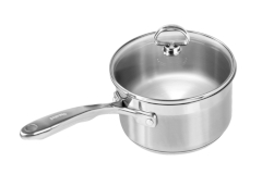 Chantal Induction 21 Steel Saucepans with Glass Lid