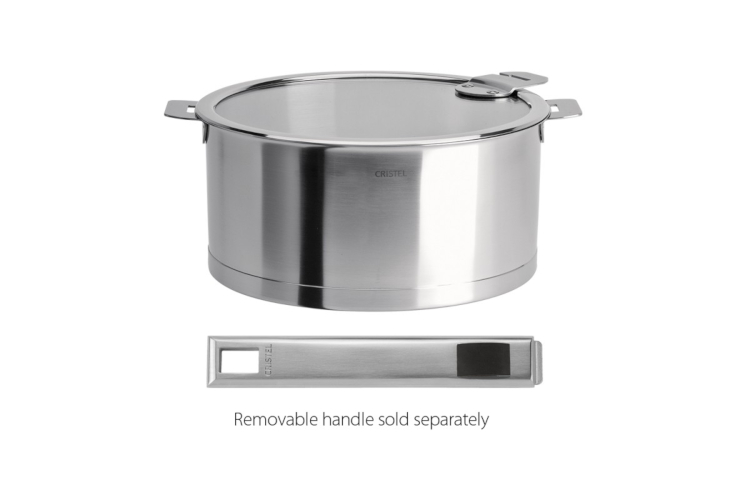 CRISTEL Strate Stainless Steel Stewpans with Flat Glass Lid