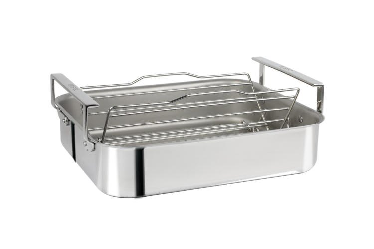 CRISTEL Stainless Steel 3-Ply Roaster with Rack