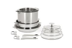 CRISTEL Casteline Stainless Steel 13-Piece Cookware Set
