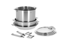 CRISTEL Strate Stainless Steel 13-Piece Cookware Set
