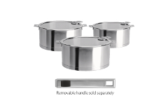 CRISTEL Strate Set of 3 Saucepans with Flat Glass Lid