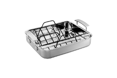 "Demeyere Industry5 Stainless Steel 15.7"" x 13.3"" Roasting Pan"
