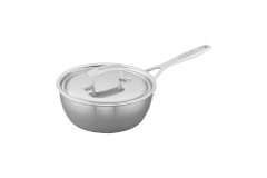 Demeyere Industry5 Stainless Steel 2 Quart Saucier with Lid