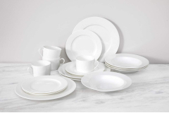 Fortessa® Gourmet Essentials 16-Piece Classic Rim Dinnerware Set
