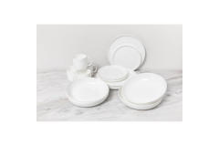 Fortessa® Gourmet Essentials 16-Piece Modern Coupe Dinnerware Set