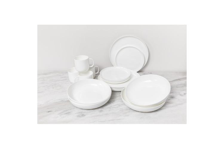 Fortessa® Gourmet Essentials 16-Piece Modern Coupe Dinnerware Set