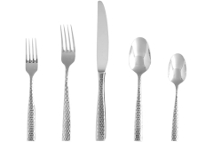 Fortessa® Lucca Faceted 20-Piece Flatware Set