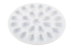 "Harold Import 13.25"" Porcelain Deviled Egg Platter"