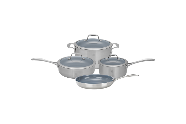 ZWILLING Spirit 7-Piece Stainless Steel Ceramic Nonstick Cookware Set