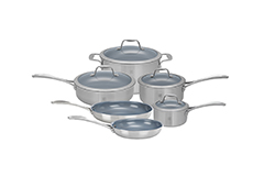 ZWILLING Spirit 10-Piece Stainless Steel Ceramic Nonstick Cookware Set