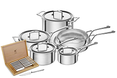 ZWILLING Aurora 10-Piece Stainless Steel Cookware Set