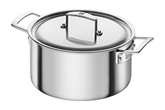 Zwilling J.A. Henckels Aurora 5.5 Quart Stainless Steel Dutch Oven with Lid